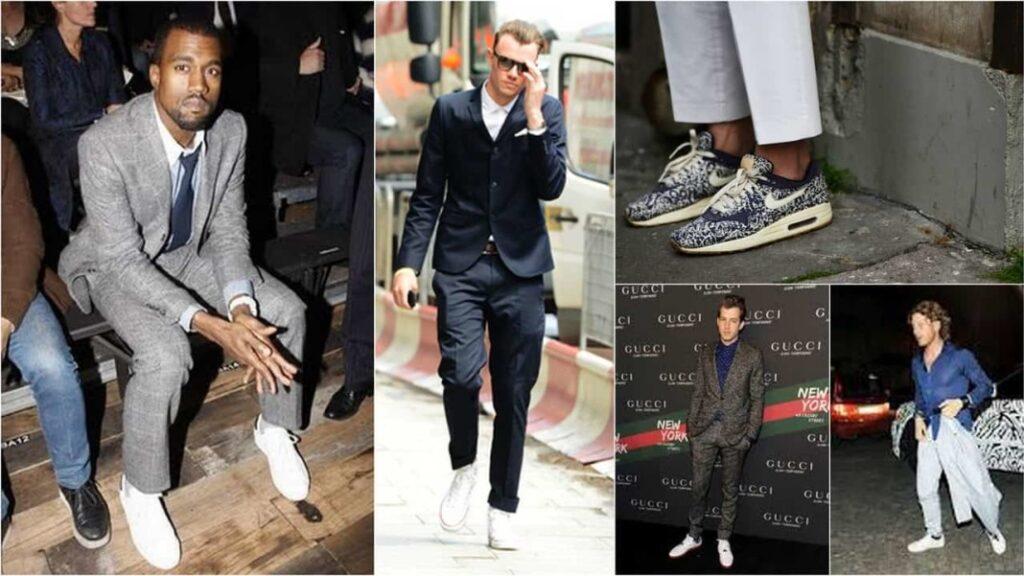 Мужские кроссовки на подиумах
